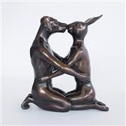 Sale 8901A - Lot 5036 - Gillie and Marc - He kissed her like it was the first time 30 (h) x 28 (d) x 18 cm (w)