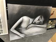 Sale 8841 - Lot 2010 - Lika - Sleeping Woman 89 x 119cm
