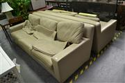 Sale 8054 - Lot 1095 - Pair of Three Seater Lounge Suites