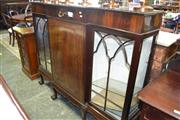 Sale 8093 - Lot 1774 - Georgian Style Display Cabinet / Sideboard with Central Cupboard Section Flanked by Astragal Doors (key in office)