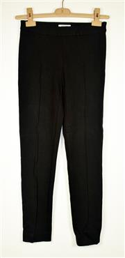 Sale 8460F - Lot 39 - A pair of Moschino black wool blend, creased slacks, size S, worn