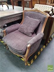 Sale 8554 - Lot 1019 - Pair of Purple Tub Chairs