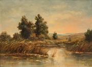 Sale 8665 - Lot 546 - Frans David Oerder (1867 - 1944) - The Marshes 42.5 x 58cm