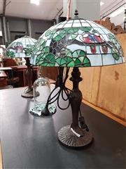 Sale 8777 - Lot 1041 - Pair of Leadlight Shade Table Lamps
