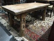 Sale 8795 - Lot 1031 - Rustic Oriental Timber Occasional Table