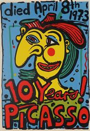 Sale 8813A - Lot 5064 - Michael Bell (1959 - ) - Ten Years Picasso 76 x 46
