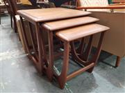 Sale 8872 - Lot 1010 - G-Plan Teak Nest of Three Tables