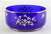 Sale 8940T - Lot 690 - A Bohemian blue art glass rose bowl