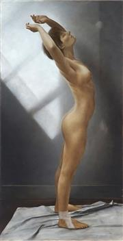 Sale 9030 - Lot 532 - Peter Sorrell (1948 - ) - Nude 99.5 x 49.5 cm (frame: 104 x 53 x 5 cm)