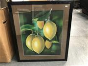 Sale 9033 - Lot 2071 - A Modern Still Life Painting of Lemons by Rossiter, 80 x 71cm -