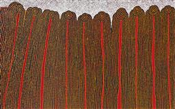 Sale 9098A - Lot 5031 - Glenys Gibson Nungurrayi (1968 - ) - Women's Ceremony 93 x 154 cm (stretched and ready to hang)