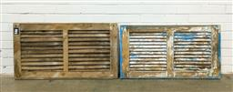 Sale 9151 - Lot 1477A - Timber shutter with painted example (h55 x w102cm)