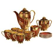 Sale 8000 - Lot 306 - A Carltonware Rouge Royale coffee service for six.