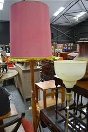 Sale 8013 - Lot 1134 - Brass Standard Lamp And A Timber Example