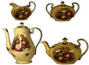 Sale 8057 - Lot 6 - Aynsley Orchard Fruit Four Piece Tea Set