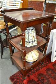Sale 8099 - Lot 806 - Mahogany What Not with Drawer Below