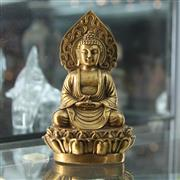 Sale 8306 - Lot 6 - Chinese Bronze Buddha (Height - 15cm)