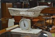 Sale 8338 - Lot 1063 - Vintage Nursery Scales with Basket - Marked John Chatillon & Sons, New York