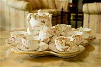 Sale 8392H - Lot 45 - A George Jones & Sons bone china tea service for seven persons, Length of tray 50cm, Rd No 56152