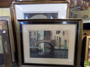 Sale 8407T - Lot 2052 - Group of Assorted Artworks including original coloured etchings of European Scenes, and other Decorative Prints (framed, various siz...