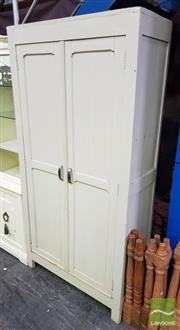 Sale 8550 - Lot 1265 - Antique French Pine 2 Door Kitchen Cupboard with fitted interior