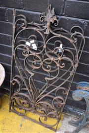 Sale 8550 - Lot 1383 - Pair of Scrolled Wrought Iron Wall Panels