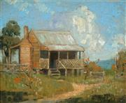 Sale 8881 - Lot 525 - Robert Johnson (1890 - 1964) - A Country Cottage 23.5 x 29 cm