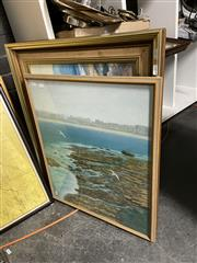 Sale 8878 - Lot 2094 - Three Artworks including an Original Landscape by Lee Miller, a Coastal Scene by Robin Martin and a Decorative Print, each framed an...