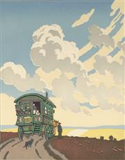 Sale 9078A - Lot 5067 - John Hall Thorpe (1874-1947) - The Caravan 33.5 x 26.5 cm (sheet: 43.5 x 34.5 cm)
