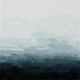 Sale 9252A - Lot 5010 - SOKQUON TRAN (1969 - ) Highlands Landscape II oil on Belgian linen (with white timber box frame) 48.5 x 48.5 cm (frame: 51 x 51 x 5 ...