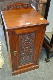 Sale 8093 - Lot 1776 - Edwardian Mahogany Bedside Cabinet with Carved Panel Door