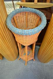 Sale 8138 - Lot 972 - Wicker Plant Stand