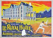 Sale 8203A - Lot 27 - E. Serre (XX) - Le Royal Hotel Aubrac, c.1935 120 x 160cm