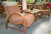 Sale 8260 - Lot 1017 - Maple Pair of Parker Knoll Lounge Chairs