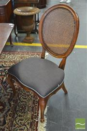 Sale 8326 - Lot 1413 - Set Of Eight French Style Caned Back Dining Chairs