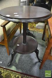 Sale 8361 - Lot 1023 - Tiered Wine Table w Octagonal Support & Splayed Legs