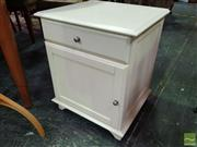 Sale 8495F - Lot 1042 - Timber Single Drawer Bedside