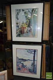 Sale 8506 - Lot 2085 - Pair of Henri Matisse Decorative Prints (framed/various sizes)