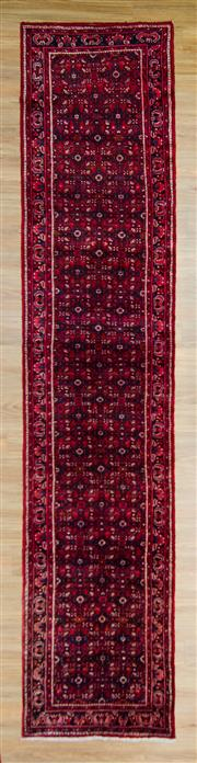 Sale 8576C - Lot 52 - Persian Husseinabad Runner 393cm x 95cm