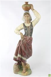 Sale 8599 - Lot 31 - A LLadro Returning From The Well Figure By Jose Luis Alvarez