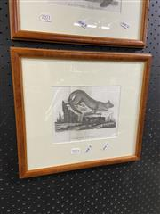 Sale 8936 - Lot 2072 - John Latham, Vulpine Opossum, Engraving Framed, 14x18cm