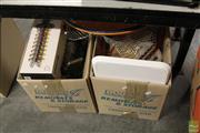 Sale 8217 - Lot 2105 - 2 Boxes of Sundries & Home Wares incl Trays & Glass