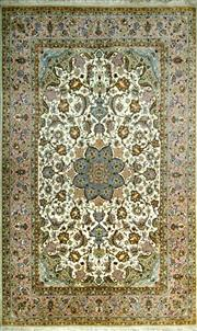 Sale 8307A - Lot 71 - Persian Isfahan Silk Inlaid 178cm x 111cm RRP $9000