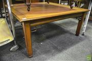 Sale 8361 - Lot 1077 - Oriental Coffee Table w Carved Supports