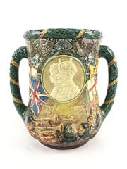 Sale 8545N - Lot 3 - Royal Doulton Loving Cup King George V & Queen Mary, 119/1000 (H: 26cm)