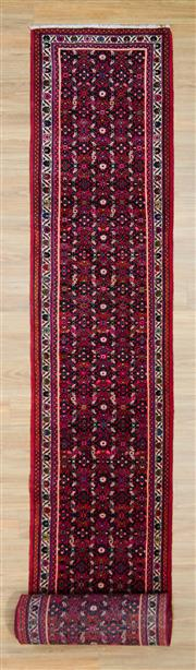 Sale 8576C - Lot 53 - Persian Husseinabad Runner 700cm x 88cm