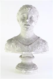 Sale 8860 - Lot 53 - Chalk bust of a child (H43cm)