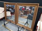 Sale 8863 - Lot 1003 - Pair of Gilt Framed Mirrors