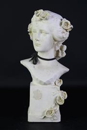 Sale 8923B - Lot 37 - A composite figure of an elegant lady. Height 43cm