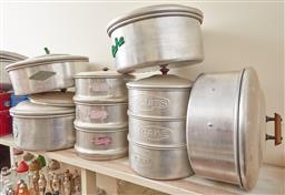 Sale 9103H - Lot 101 - A large quantity of aluminium baked good canisters.